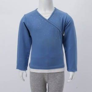 Children Knitting Diamonds V-Neck Long Sleeve Shirt