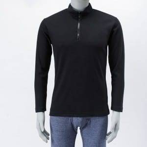 Knitting Long Sleeve Polyester Golf Polo homes de