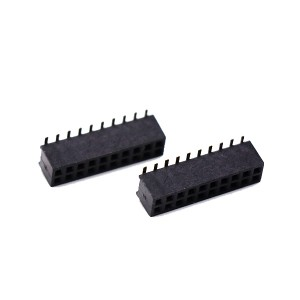 Manufacturing Companies for 9 Pin Push Push Tf Connector - 1.27mm female header PCB connector double row SMT type- straight – GAOYUEDA