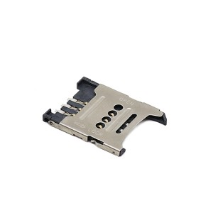 SIM card connector 6pin flip type