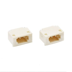 0.8mm pitch Wafer Housing Right Angle female header SMT type- horizontal
