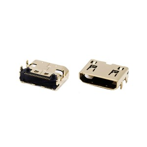 High definition Vertical Type Usb Connector - 19pin mini HDMI C type female connector for PCB – GAOYUEDA