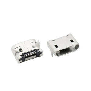 MICRO USB 5P female socket 5pin 7.2mm pitch with post plain port