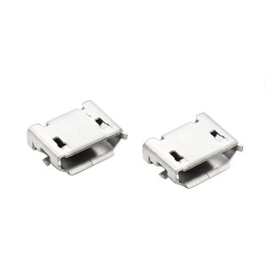 MICRO USB 5P female socket SMT type with post and edge