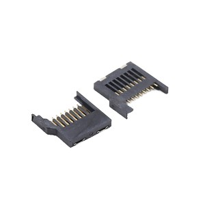 SMT micro sd T-flash card socket with full plastic shell 8pin