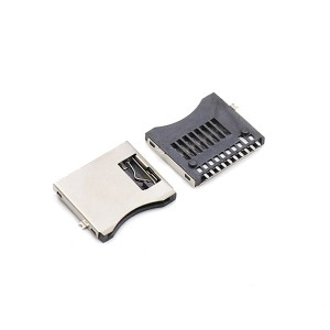 Free sample for 1.00mm Pitch - Micro sd card socket smt 10pin PCB connector TF card connector – GAOYUEDA