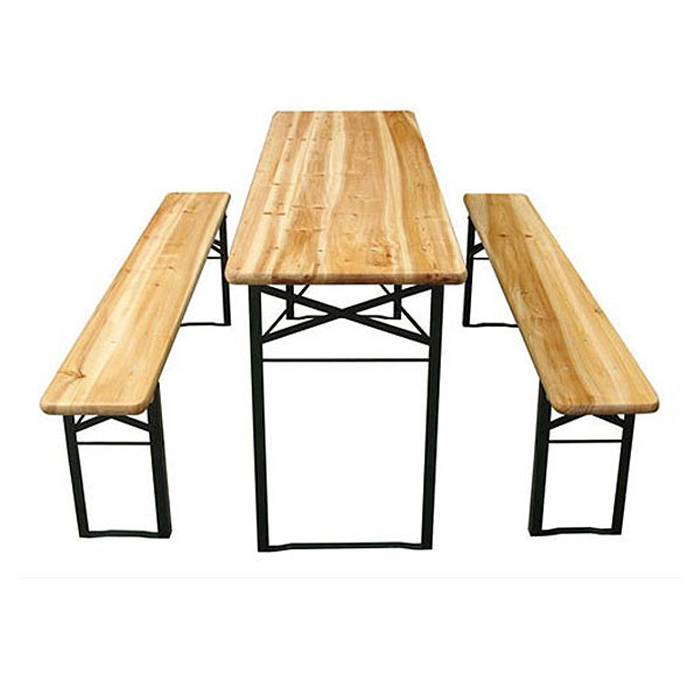 Picnic Camping Foldable Wood Beer Table XH-V012