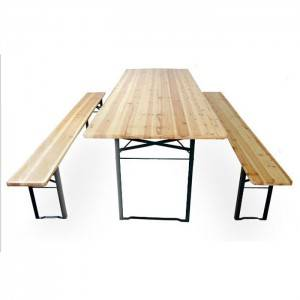 100% Original Outdoor Wood Table -