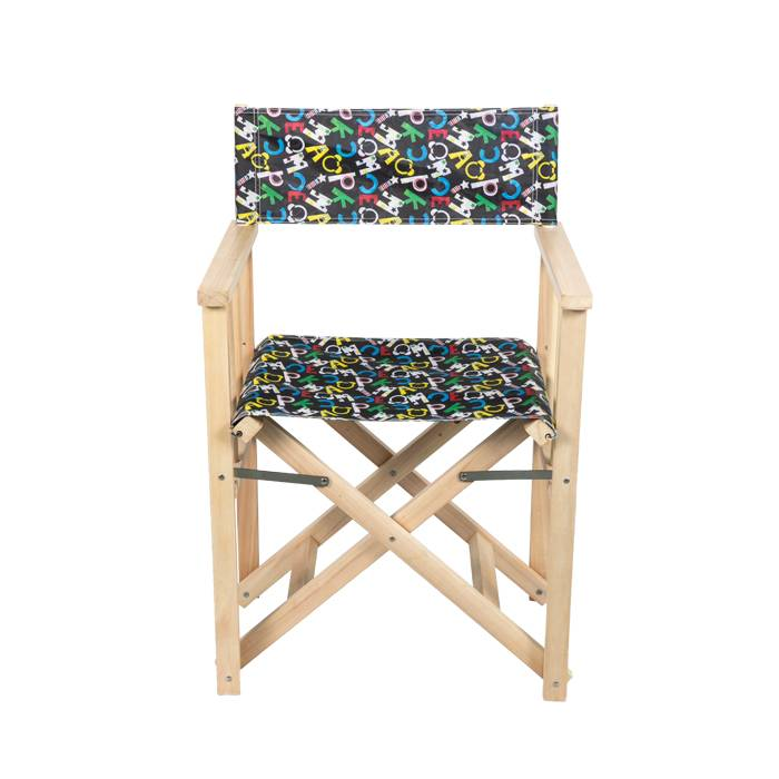 Customized Folding Wooden Director Chair With Armrest XH-Y017