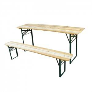 Wholesale Foldable Wooden Beer Table Set -