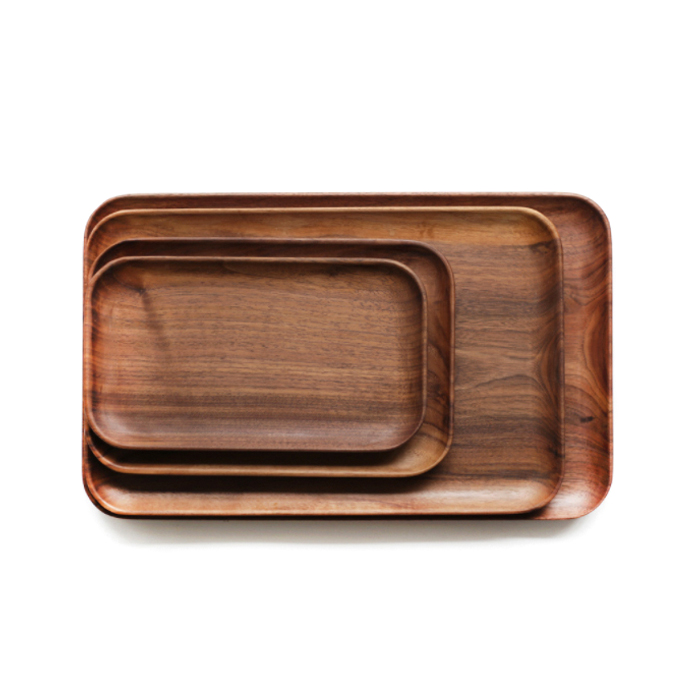 High Quality Reusable Natural Wooden Tray With Custom Logo