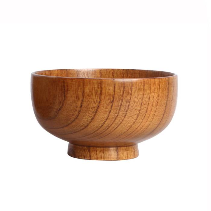 Restaurant Tableware Cheap Reusable Eco-friendly Blank Round Wooden Mixing Serving Bowls For Food