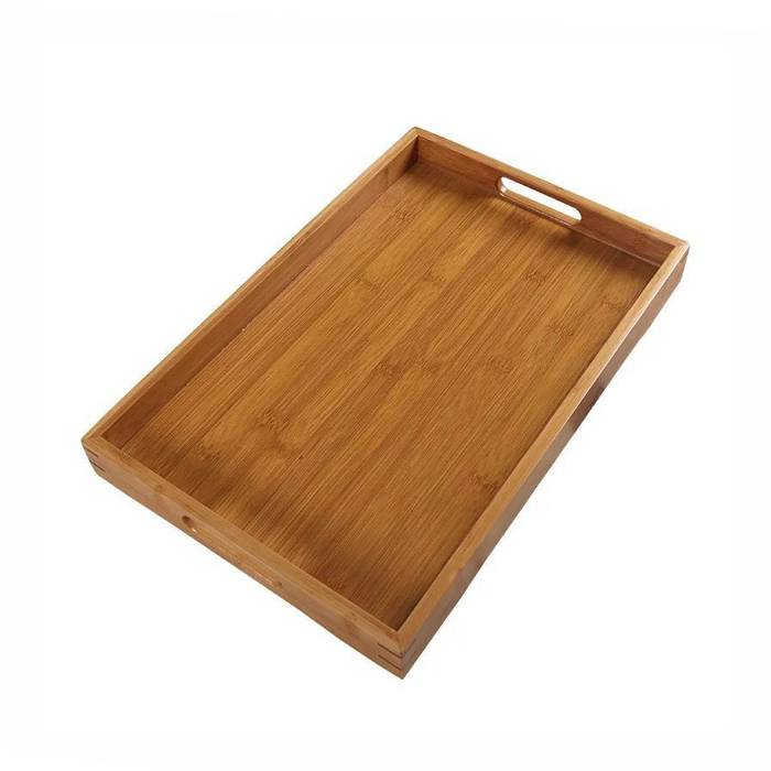 OEM Custom Natural Breakfast Bamboo Serving Wooden Tray