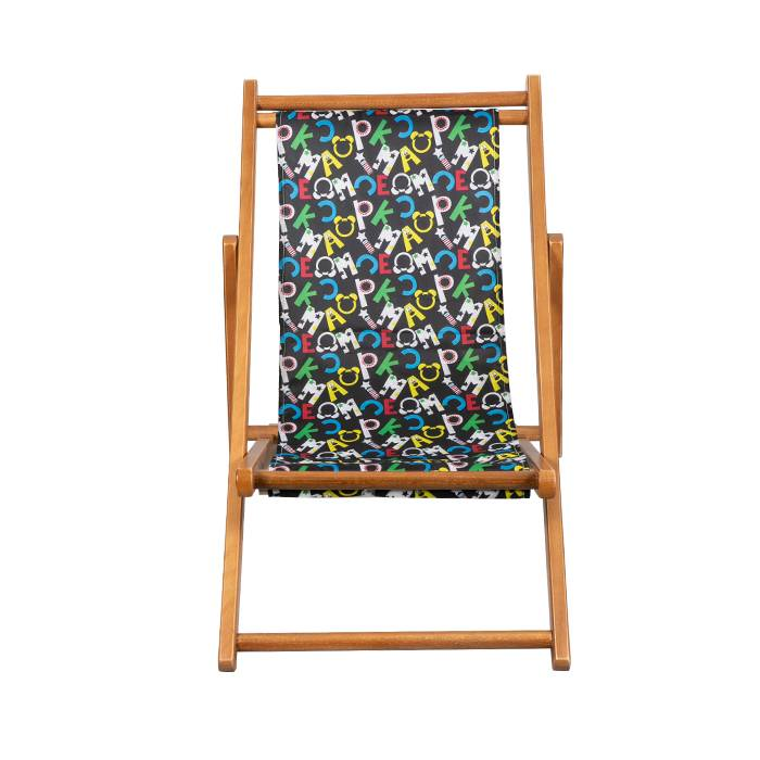 Foldable Canvas Sling Chair Kids Wooden Beach Chair XH-W008