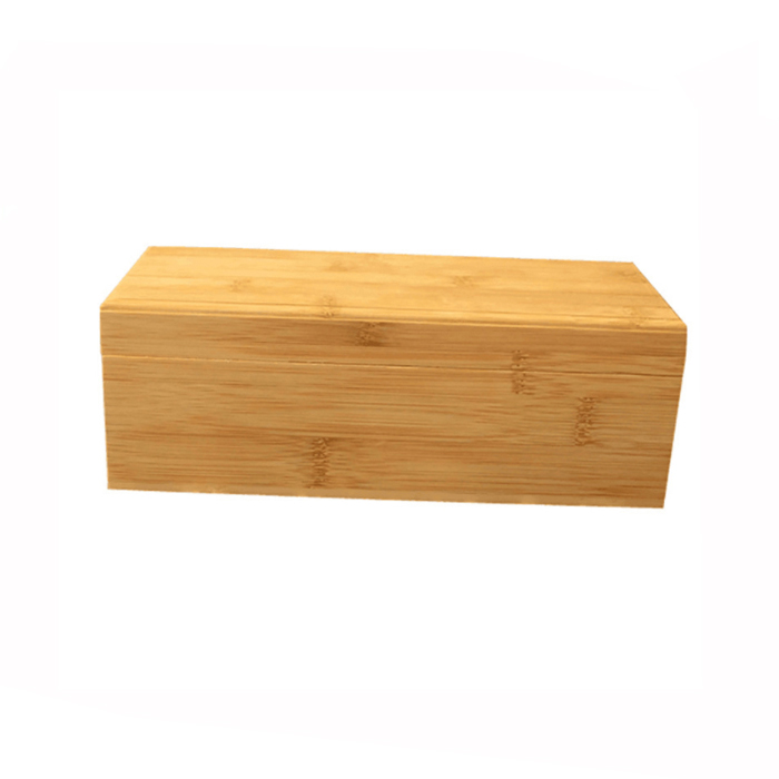 Natural Color Bamboo Storage Box With Lid
