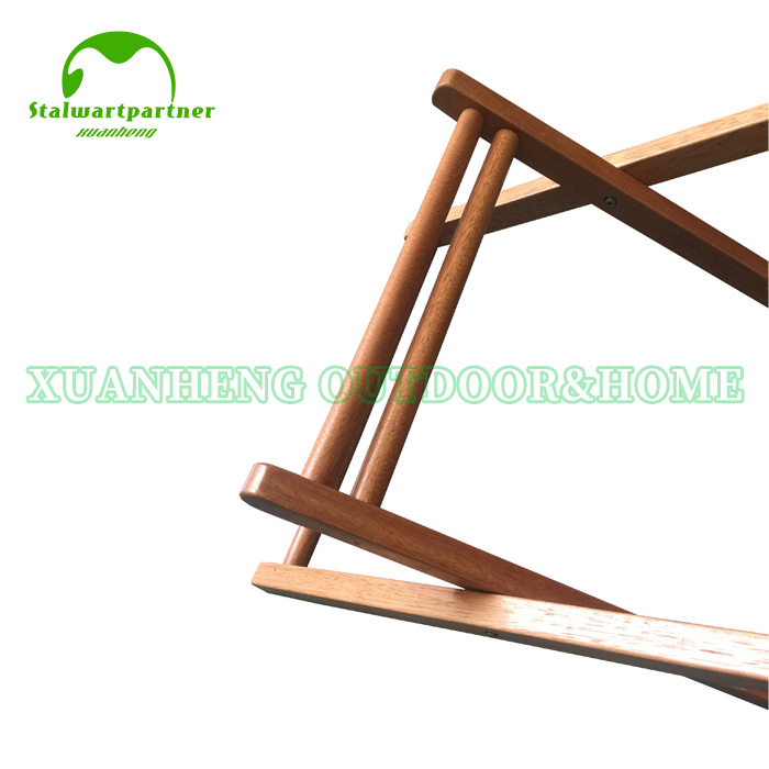 Outdoor Wooden Beach Sling Chair XH-X006