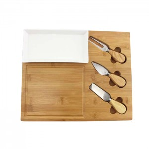 factory customized Bamboo Cutlery Storage Holder -