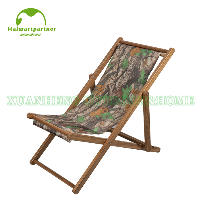 Adult Folding Wooden Beach Chair  XH-X002