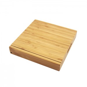 Natural Bamboo Cheese Board Set With Lid