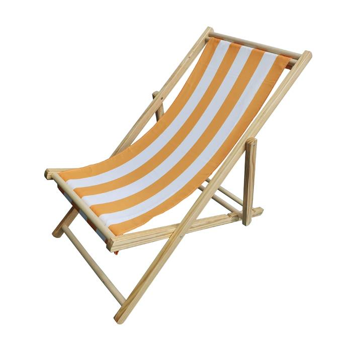 Promotional Wooden Folding Fabric Deck Beach Chair   XH-X052