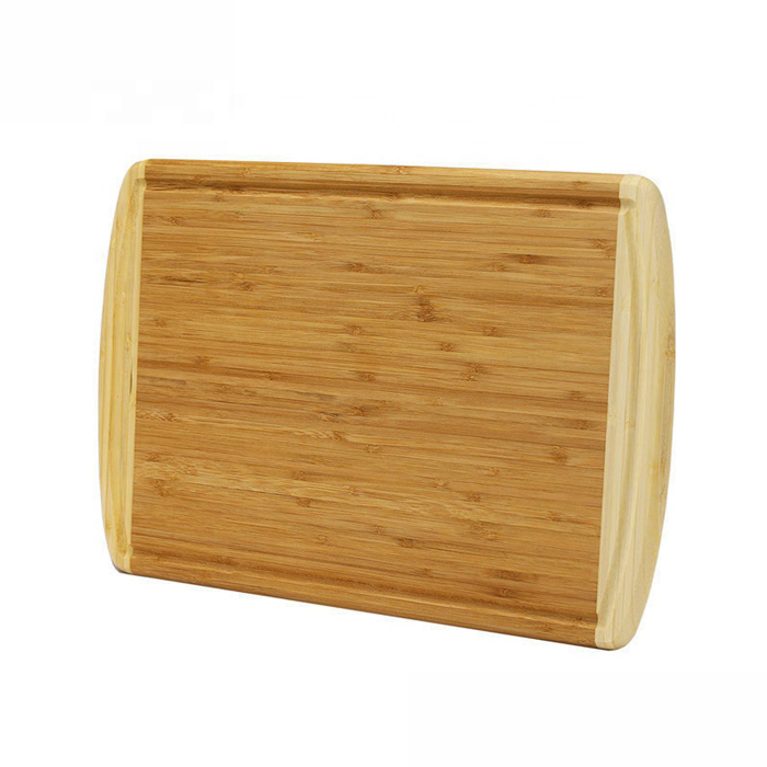 Organic Bamboo Wooden Block Cutting Board Fruit Chop Board  XH-A066