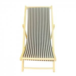 Detachable Wooden Canvas Sand Beach Lounge Chair XH-X019