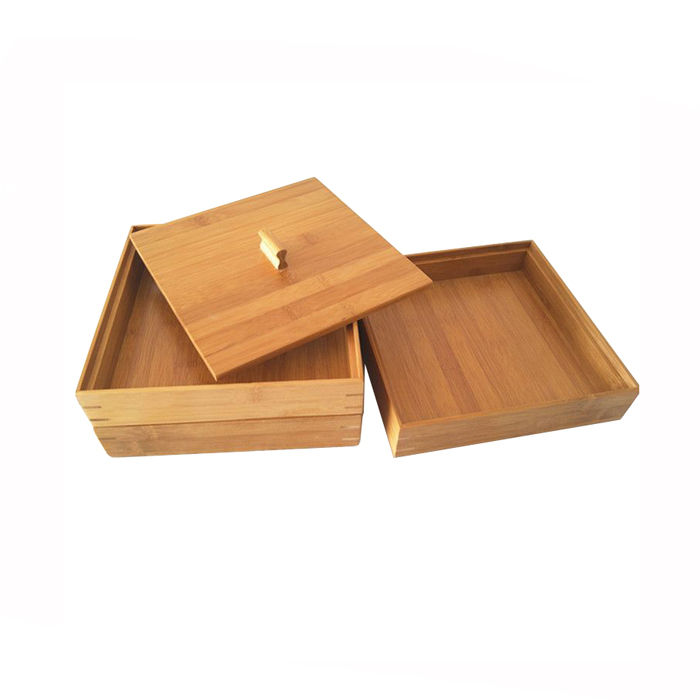 Three-layer Large Bamboo Gift Box