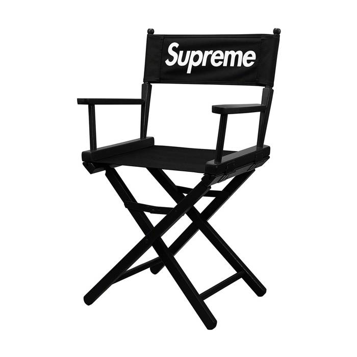 Wooden Director's Chair With Black Canvas Seat  XH-Y047