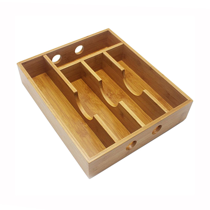 Bamboo Expandable Drawer Organizer Tray Bamboo Kitchen Drawer Organizer