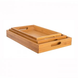 factory low price Bamboo Expandable Cutlery Tray -