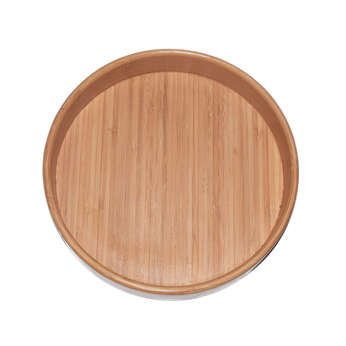 Round Natural Bamboo Candy Tray XH-C006