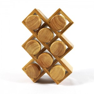 Bamboo kitchen seasoning rack