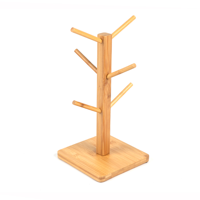 Bamboo Coffee Tea Cup Rack