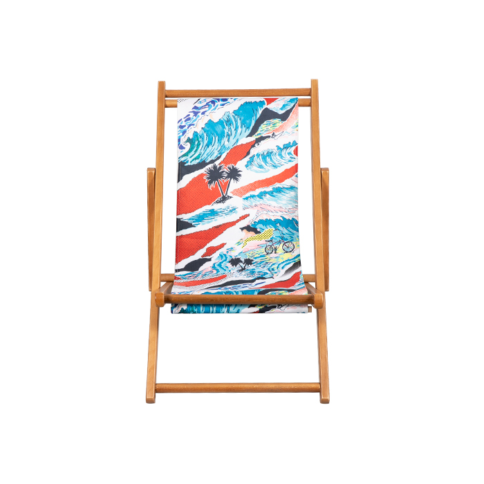 Children's Wooden Sling Beach Chair With Wood Base XH-W001