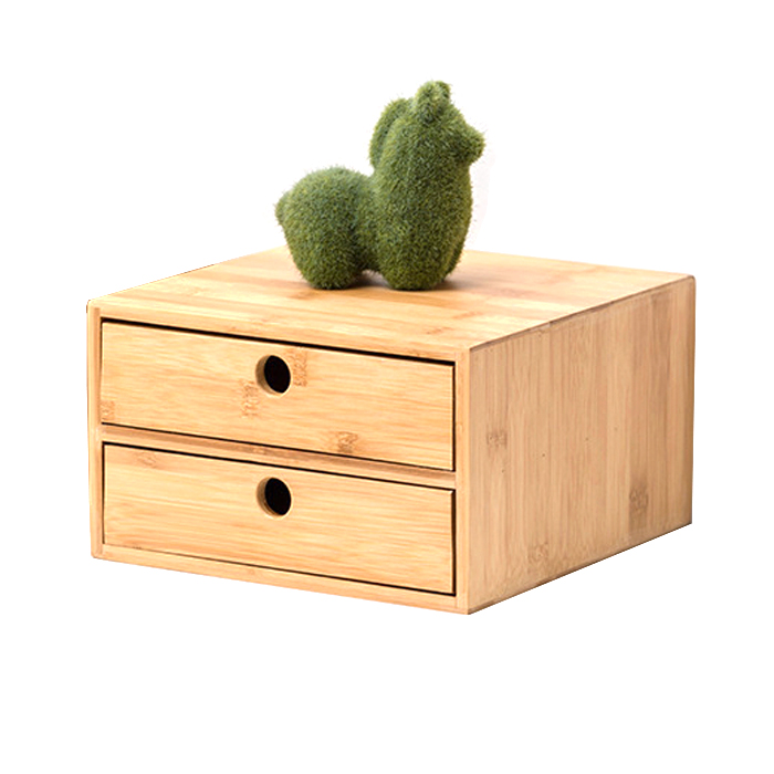 Three-layer Bamboo Jewelry Box