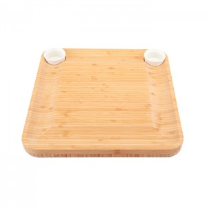 Chess Chopping Board With Cheese Knife Made Of Bamboo
