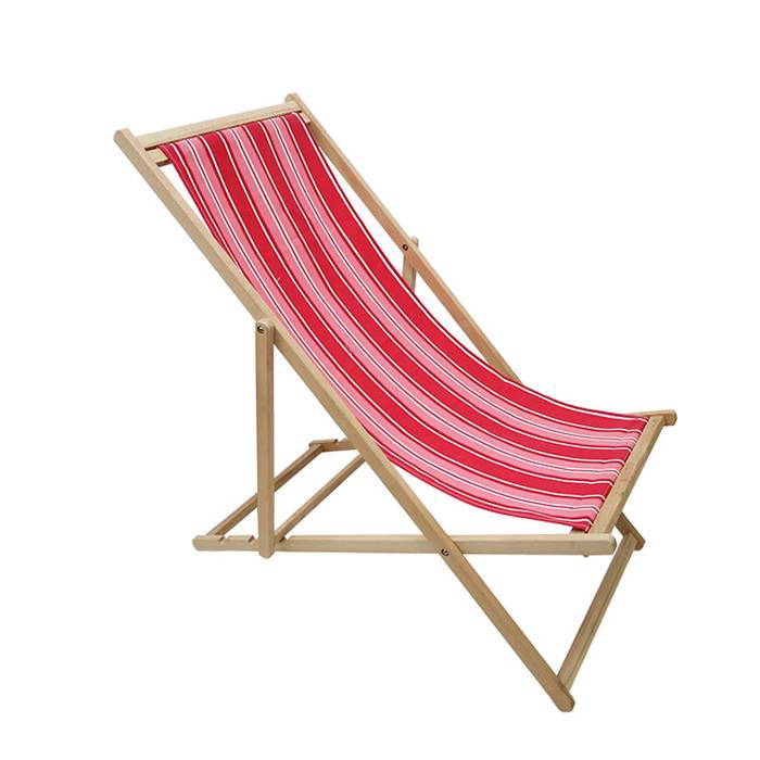 Hot Sale Promotional Wooden Folding Beach Deck Chair  XH-X037