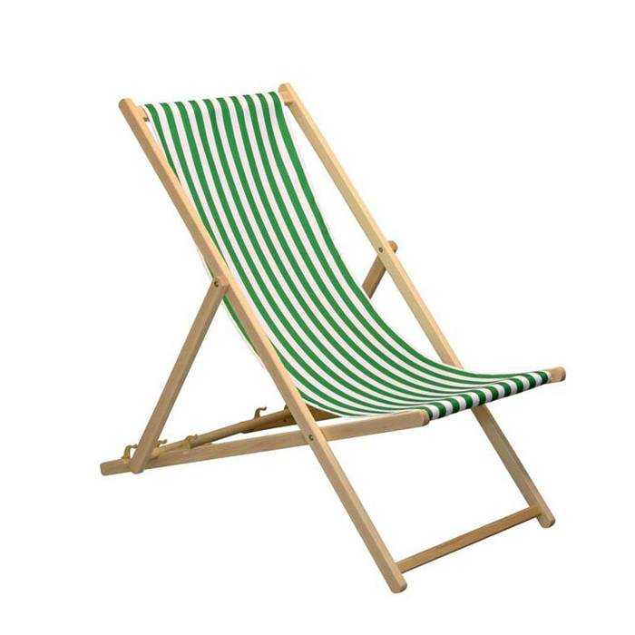 Easy Fold Portable Wooden Beach Chair   XH-X042