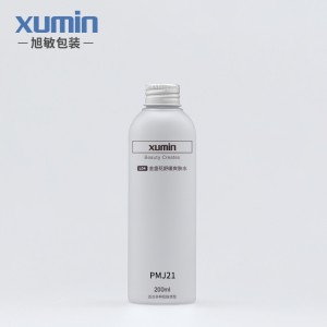 Personal care cosmetic bottles 200ml Pet plastic bottle white nese aluminum bottle cover