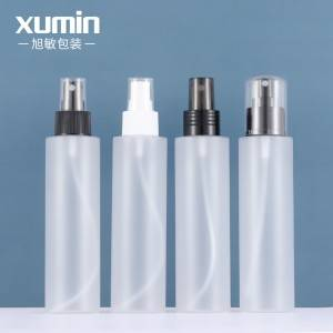 cosmetic packaging pet frosted plastic bottle Multiple sprinklers product set 150ml spray bottle