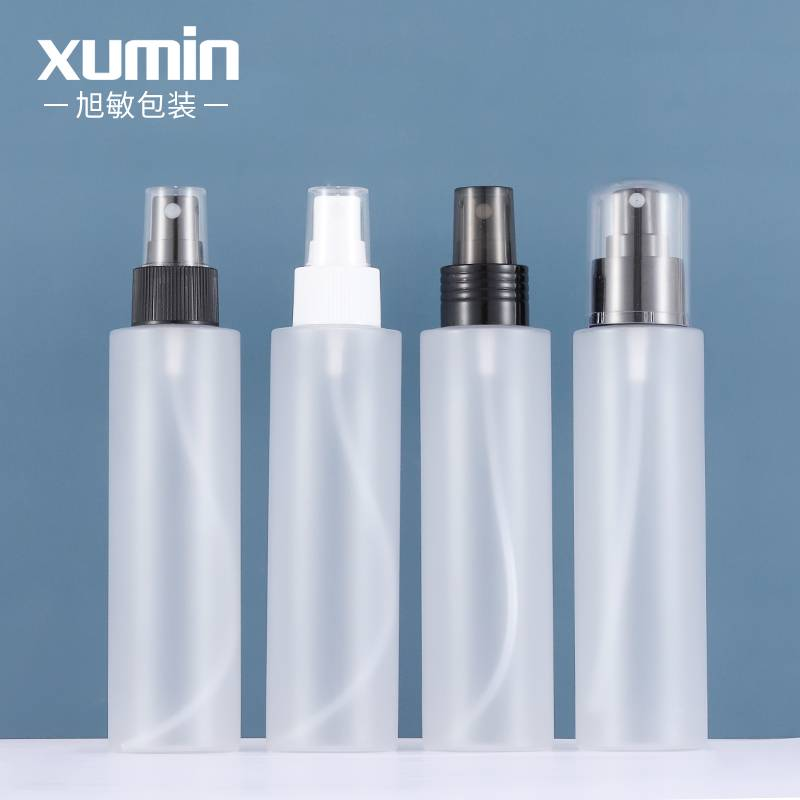 cosmetic packaging pet frosted plastic bottle Multiple sprinklers product set 150ml spray bottle Featured Image