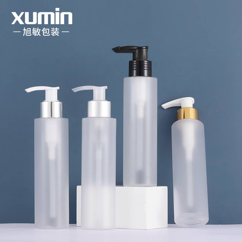 Multi style long nozzle pump head frosted bottle 150ml lotion bottle with pump cosmetic plastic bottle Featured Image