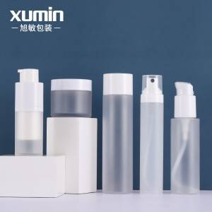 50g cream jars 15ml airless pump bottle and 100ml toner 150ml lotion bottle with 50ml perfume spray bottle set