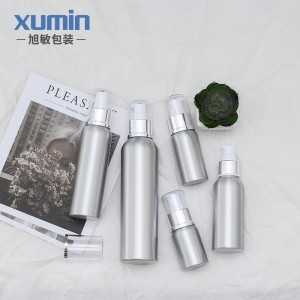 Eco-friendly bouteille 15 ml aluminium cosmetic bottle 30ML 50ML 100ML 120ML 250ML matte black bottle with aluminium bottle