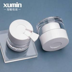 luxury cosmetic packaging 30g 50g  pet acrylic plastic cream jar