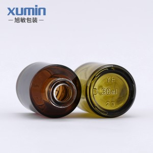 Wholesale Hot sale luxury cosmetic bottle 30ML glass dropper bottle Dark brown and Dark green color
