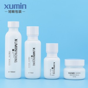Luxury cosmetic bote 50ml glass bottle na may isang pump 50G 110ML 150ml para koreano skin care