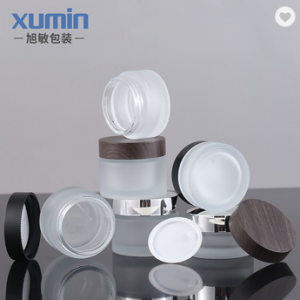 Wholesale cosmetic 30g 50g cream jar packaging for frosted glass jar