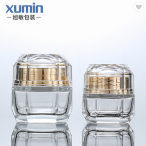 wholesale 30g 50g clear glass cosmetic jar custom cosmetic cream jar glass jars with lids
