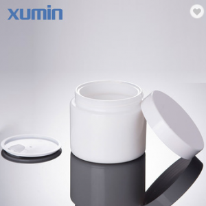 Wholesale white cosmetic jar for 100g glass jar